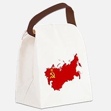 Red USSR Soviet Union map Communi Canvas Lunch Bag