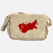 Red USSR Soviet Union map Communist Messenger Bag