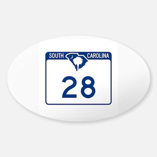 Highway 28, South Carolina Sticker (Oval)