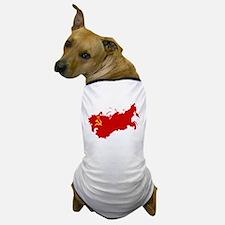 Red USSR Soviet Union map Communist Co Dog T-Shirt