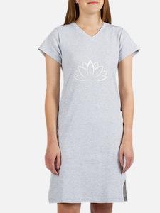 Buddhist Sacred Indian Lotus Fl Women's Nightshirt