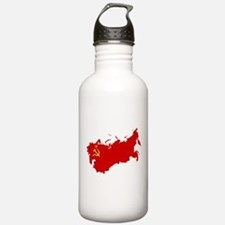 Red USSR Soviet Union Sports Water Bottle