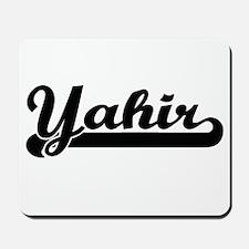 Yahir Classic Retro Name Design Mousepad