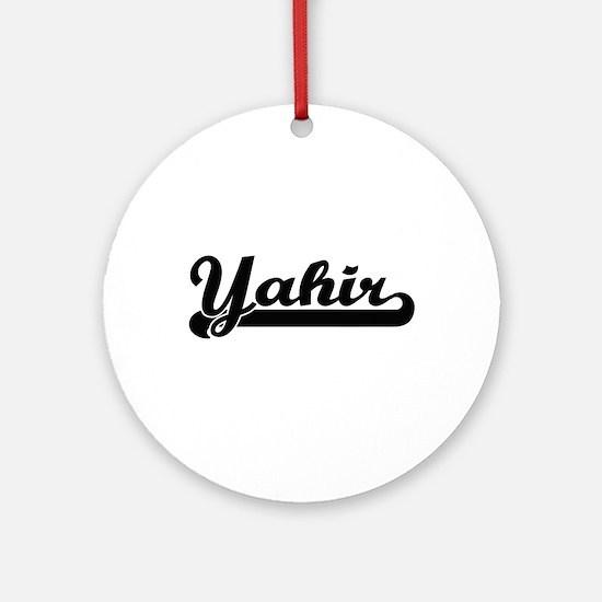 Yahir Classic Retro Name Design Ornament (Round)