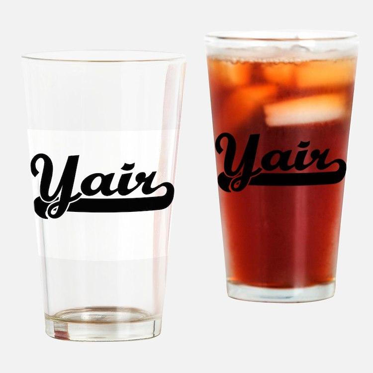 Yair Classic Retro Name Design Drinking Glass