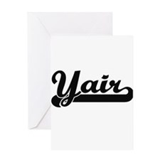 Yair Classic Retro Name Design Greeting Cards