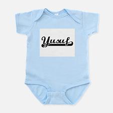 Yusuf Classic Retro Name Design Body Suit