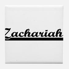 Zachariah Classic Retro Name Design Tile Coaster