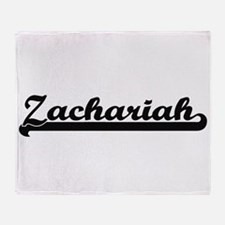 Zachariah Classic Retro Name Design Throw Blanket