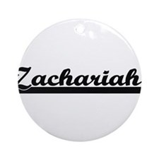 Zachariah Classic Retro Name Desi Ornament (Round)