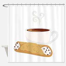 Cannoli & Coffee Shower Curtain