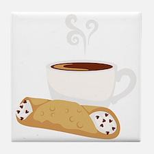 Cannoli & Coffee Tile Coaster