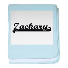 Zackary Classic Retro Name Design baby blanket