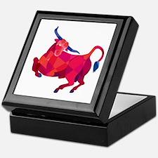 Texas Longhorn Bull Prancing Low Polygon Keepsake