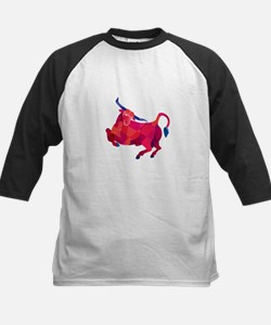 Texas Longhorn Bull Prancing Low Polygon Baseball