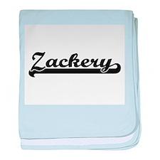 Zackery Classic Retro Name Design baby blanket
