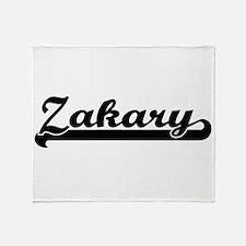 Zakary Classic Retro Name Design Throw Blanket
