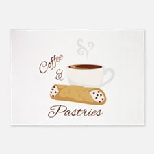 Coffee & Pastries 5'x7'Area Rug