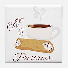 Coffee & Pastries Tile Coaster