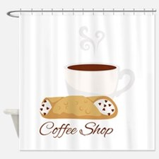Coffee Shop Shower Curtain
