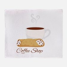 Coffee Shop Throw Blanket