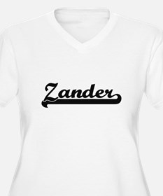Zander Classic Retro Name Design Plus Size T-Shirt