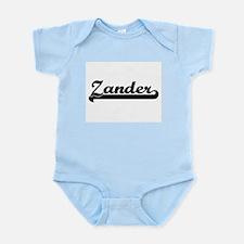 Zander Classic Retro Name Design Body Suit