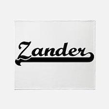 Zander Classic Retro Name Design Throw Blanket
