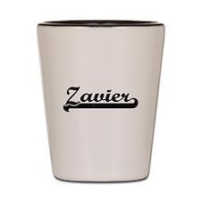 Zavier Classic Retro Name Design Shot Glass