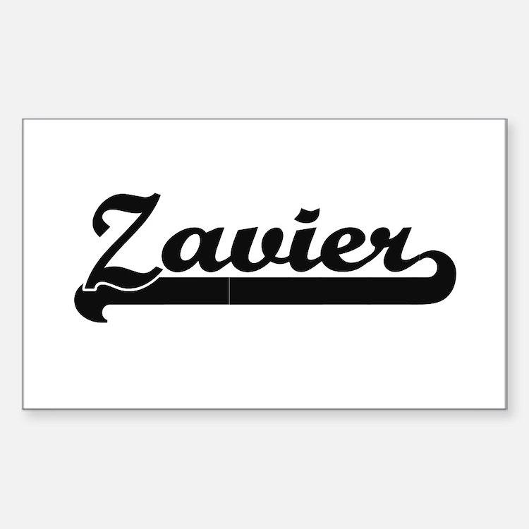 Zavier Classic Retro Name Design Decal