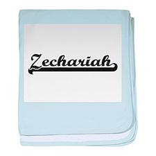 Zechariah Classic Retro Name Design baby blanket