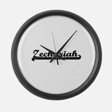 Zechariah Classic Retro Name Desi Large Wall Clock