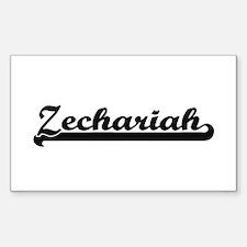 Zechariah Classic Retro Name Design Decal