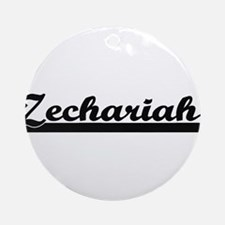 Zechariah Classic Retro Name Desi Ornament (Round)