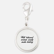 Well Behaved Women Silver Round Charm
