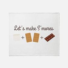 Let's Make Smores Throw Blanket