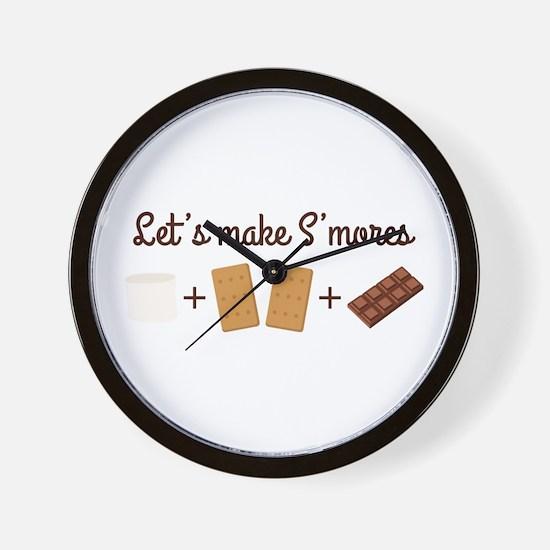 Let's Make Smores Wall Clock