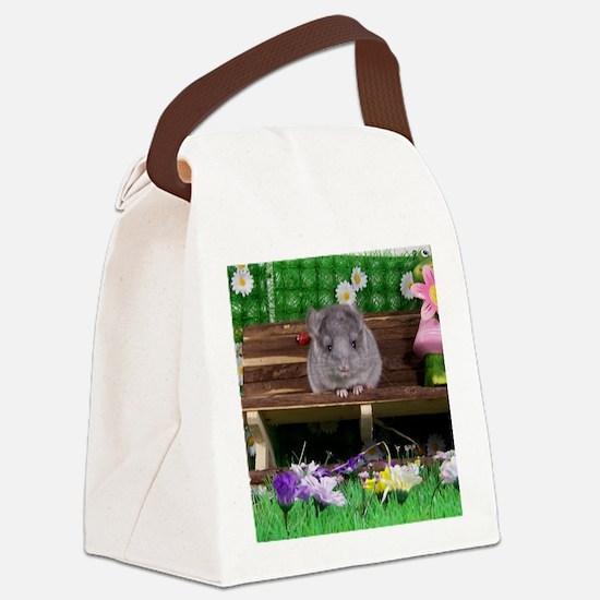 Baby white ebony velvet chinchill Canvas Lunch Bag