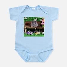 Baby white ebony velvet chinchilla Body Suit