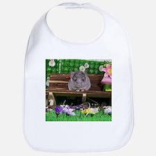 Baby white ebony velvet chinchilla Bib