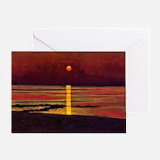Vallotton - Sunset Greeting Card