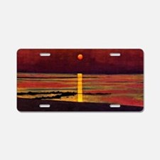 Vallotton - Sunset Aluminum License Plate