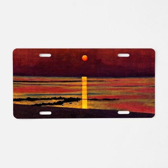 Vallotton - Sunset Aluminum License Plate