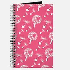 Pink Dandelion Heart Seeds Journal