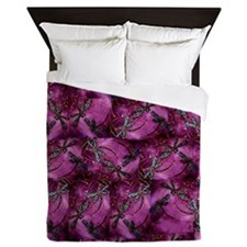 Dragonfly Plum Flit Queen Duvet