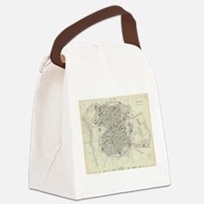 Vintage Map of Madrid Spain (1831 Canvas Lunch Bag