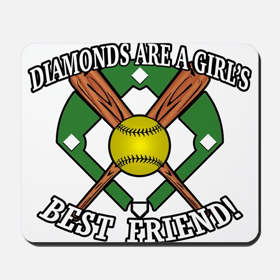 Softball Diamonds Best Friend! Mousepad