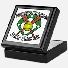 Softball Diamonds Best Friend! Keepsake Box