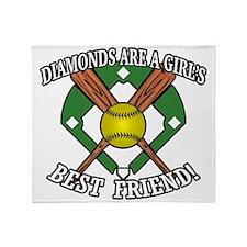 Softball Diamonds Best Friend! Throw Blanket