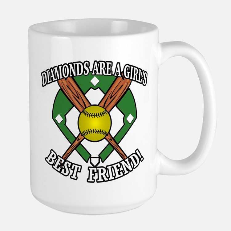 Softball Diamonds Best Friend! Mugs